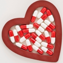 pills in heart